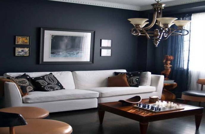 Navy Blue Living Room Decorating Ideas Modern House