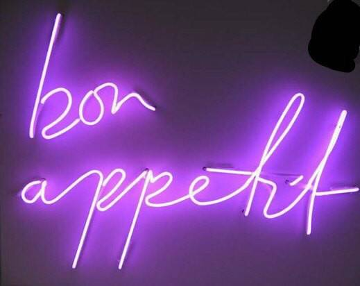 Neon Sign Small Text Cursive Only Mounted