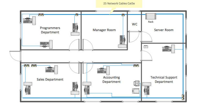 Network Layout Floor Plans Solution Conceptdraw