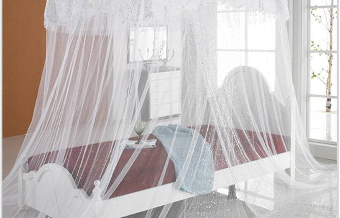 New Bed Canopy Mosquito Luxury Sequins Lace Bedding