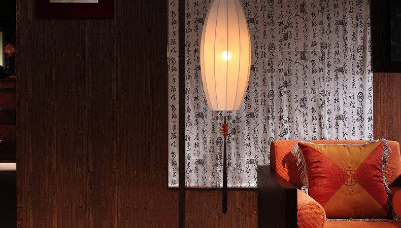 New Chinese Modern Floor Lamp Shade Washable Living