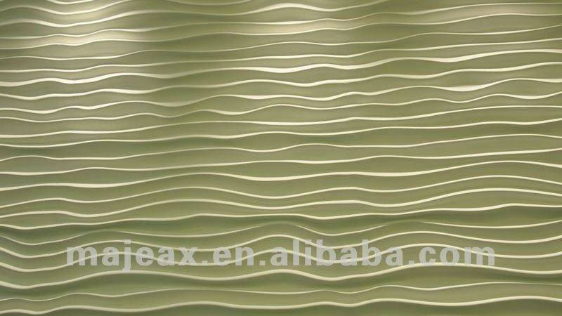 New Design Hotel Lobby White Gypsum Plaster Wave