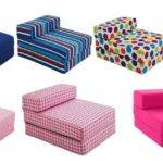 New Fold Out Bed Single Chair Futon Guest Sofa
