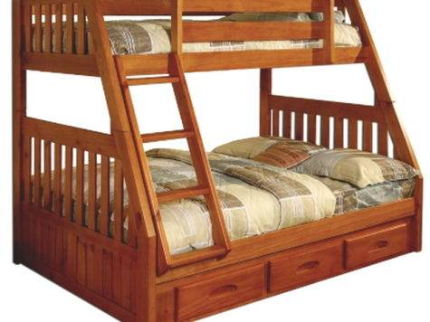 New Kids Bedroom Furniture Bunk Bed Twin Over
