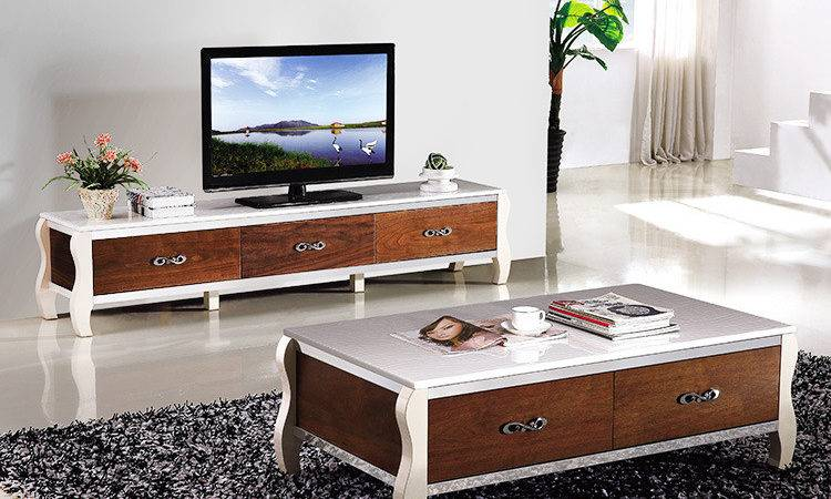 New Living Room Coffee Table Cabinet Combination