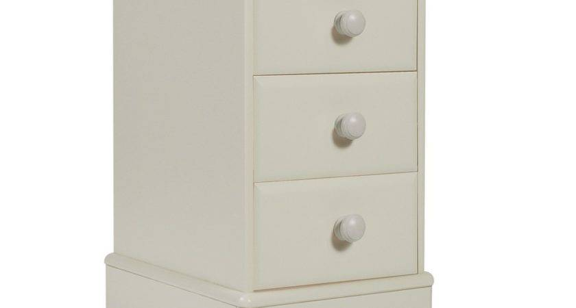 New Oxford Childrens Pine Furniture Bedside Table Narrow