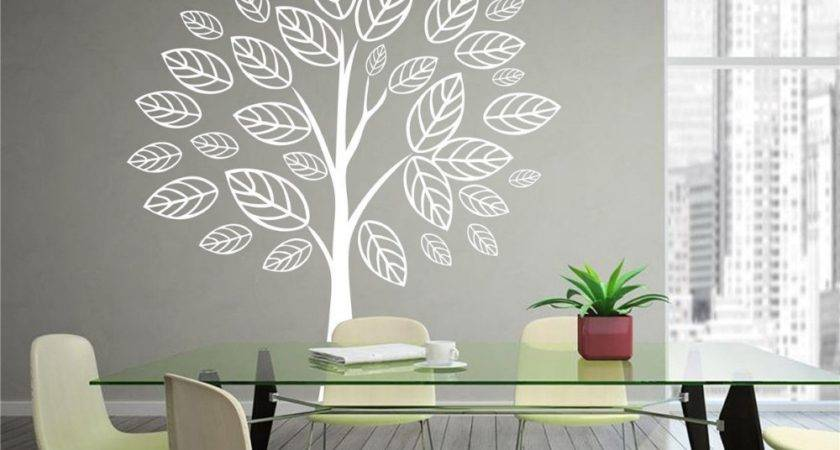 New Personalized White Tree Vinyl Decal Wall Sticker