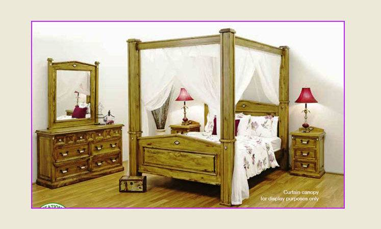 New Queen Four Poster Canopy Bed Frame King