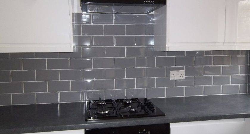 New Square Meters Gloss Grey Bevelled Metro Wall Tiles