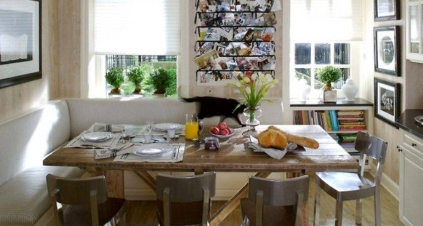 Nice Open Kitchen Space Dining Room Wooden Table