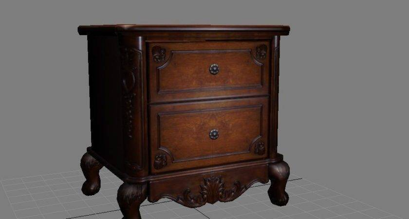 Nightstand Small Model Max Obj Fbx Cgtrader