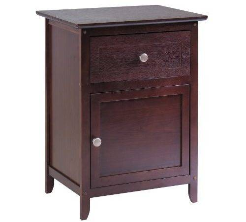 Nightstands Drawers Winsome Wood Night Stand
