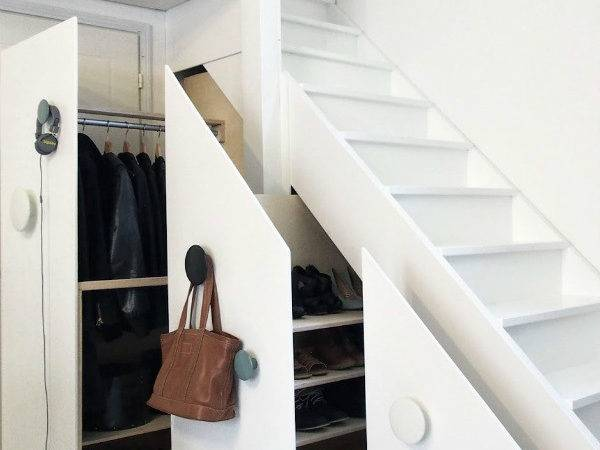 Nine Clever Designs Integrate Storage Stairs Mocha