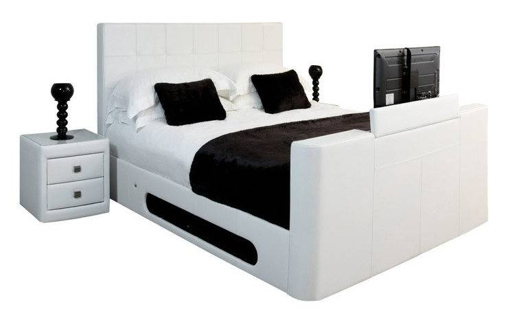 Nova Real Leather Double Bed Inc Lcd Store