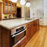 Oak Cabinets Kitchen Craftsman Breakfast Bar