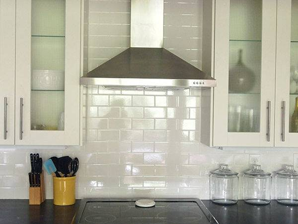 Off White Subway Tile Backsplash Design Ideas