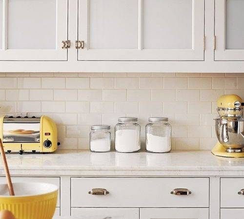 Off White Subway Tile Traditional Kitchen Martha Stewart
