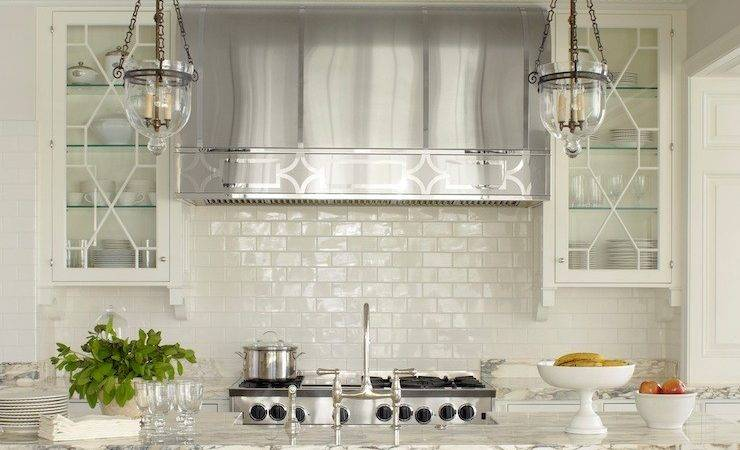Off White Subway Tile Transitional Kitchen Phoebe Howard