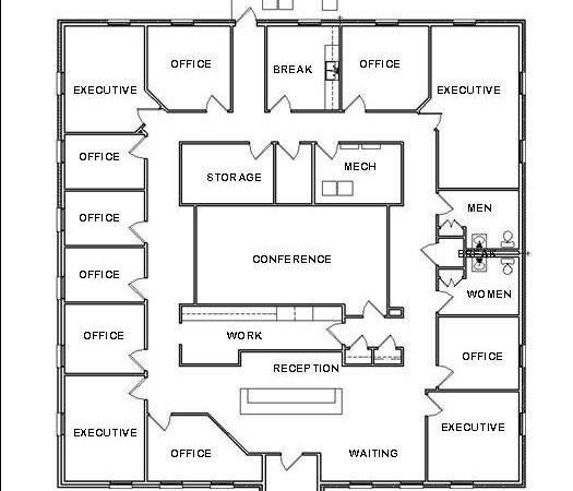 Office Design Plans House Space Planning Ideas Blueprint