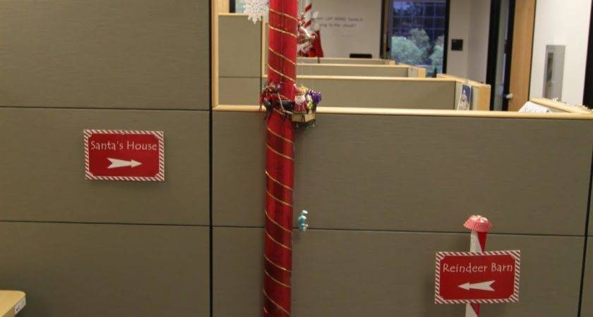 Office Holiday Pole Decorating Contest Mid Century