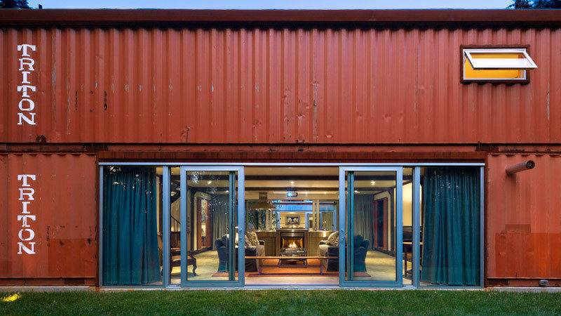 Old Lady Shipping Container House Modern Masterpiece