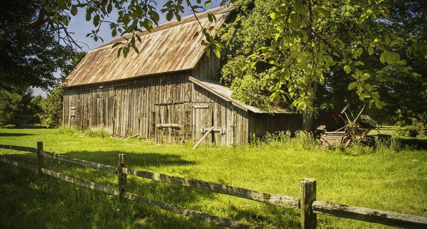 Old Rustic Barn Wooden Fence Photograph Randall Nyhof