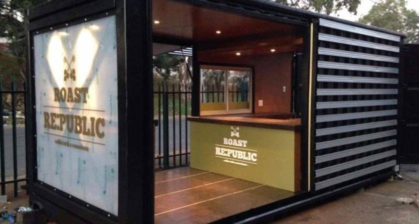 Old Shipping Container Converted Into Chic Coffee
