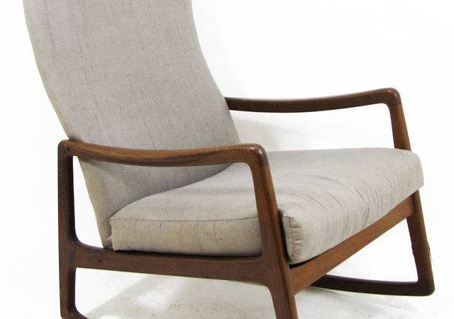 Ole Wanscher Danish Modern Rocking Chairs Room