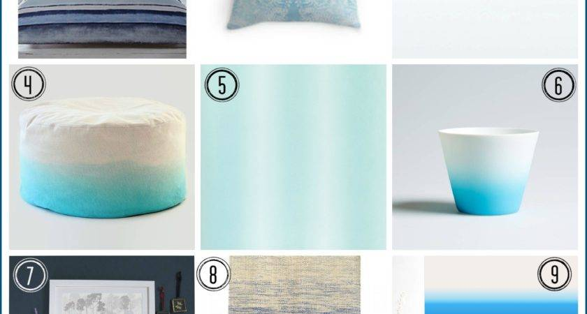 Ombre Design Home Trend Fresh Blues Blog
