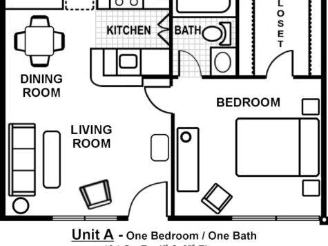One Bedroom Floor Plans Furniture High