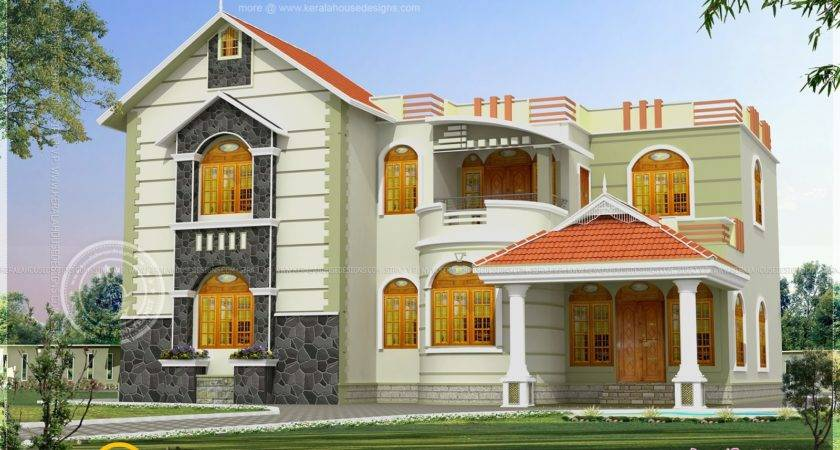 One House Exterior Design Two Color Combinations Kerala