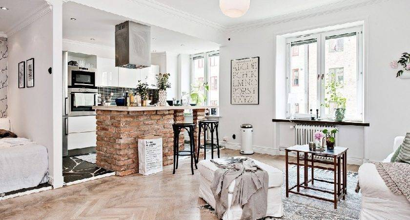 One Room Apartment Kept Spacious Scandinavian Design