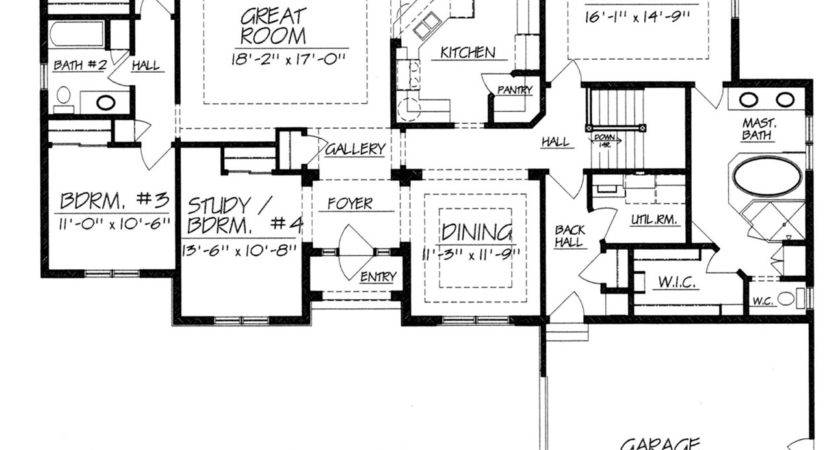One Story House Plans Without Dining Room Home Deco