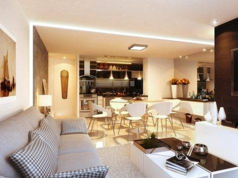Open Concept Apartment Interiors Inspiration