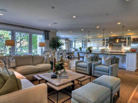 Open Concept Living Room Coastal Theme Hgtv