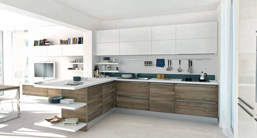 Open Modern Kitchens Few Pops Color