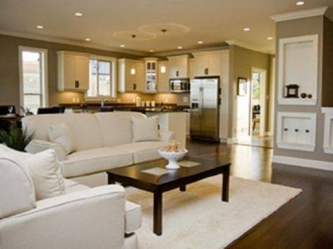 Open Space Kitchen Living Room Home Decorating Ideas