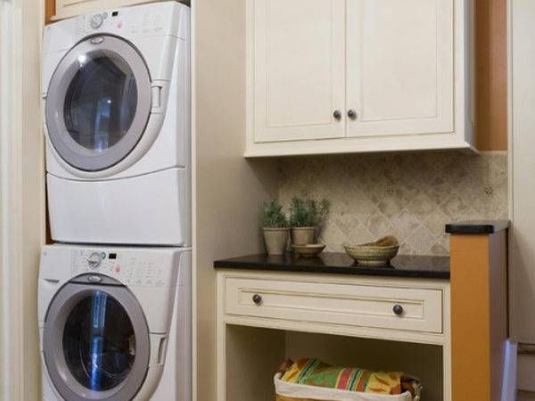 Orange Small Laundry Room Layouts