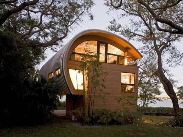 Organic Design Ideas Guest House Curved Wood