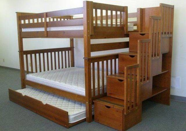 Organize Bunk Bed Plans Twin Over Stairs