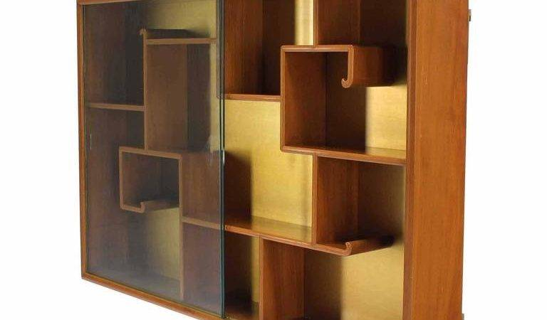 Oriental Asian Inspired Hanging Bookcase Shelf Glass