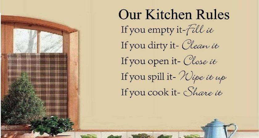 Our Kitchen Rules Vinyl Wall Quote Saying Words