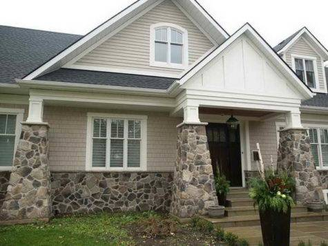 Outdoor Dry Stacked Fake Stone Siding Types