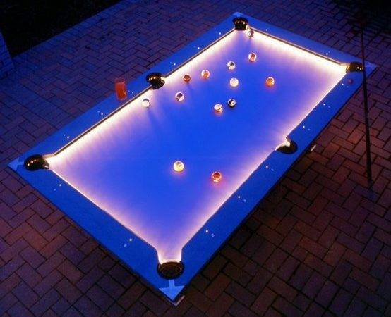 Outdoor Pool Table Cool Lighting Coolest Photos