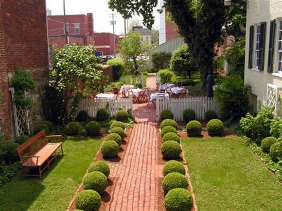 Outdoor Small Courtyard Garden Design Backyard