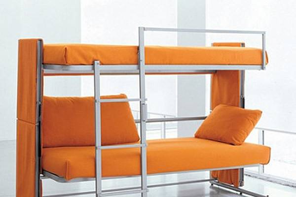 Own Couch Transforms Into Bunk Bed
