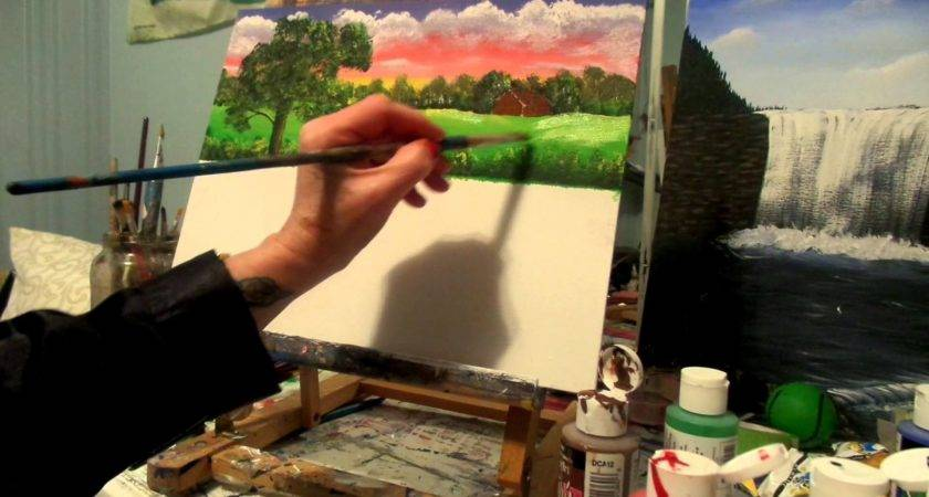 Paint Country Cottage Acrylic Painting Lesson