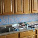 Paint Geometric Tile Kitchen Backsplash