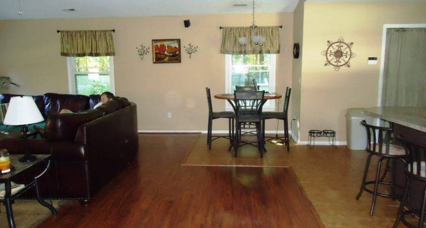 Painting Adjoining Rooms Different Colors Open Floor