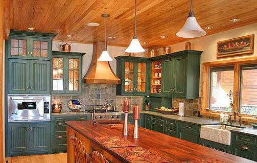 Painting Kitchen Cabinets Color Log Home